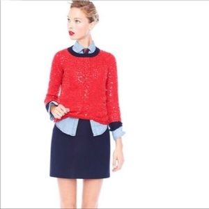 J. Crew scattered sequins sweater